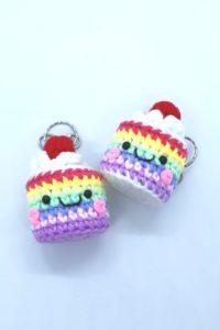 Crochets Rainbow Cake Keychain