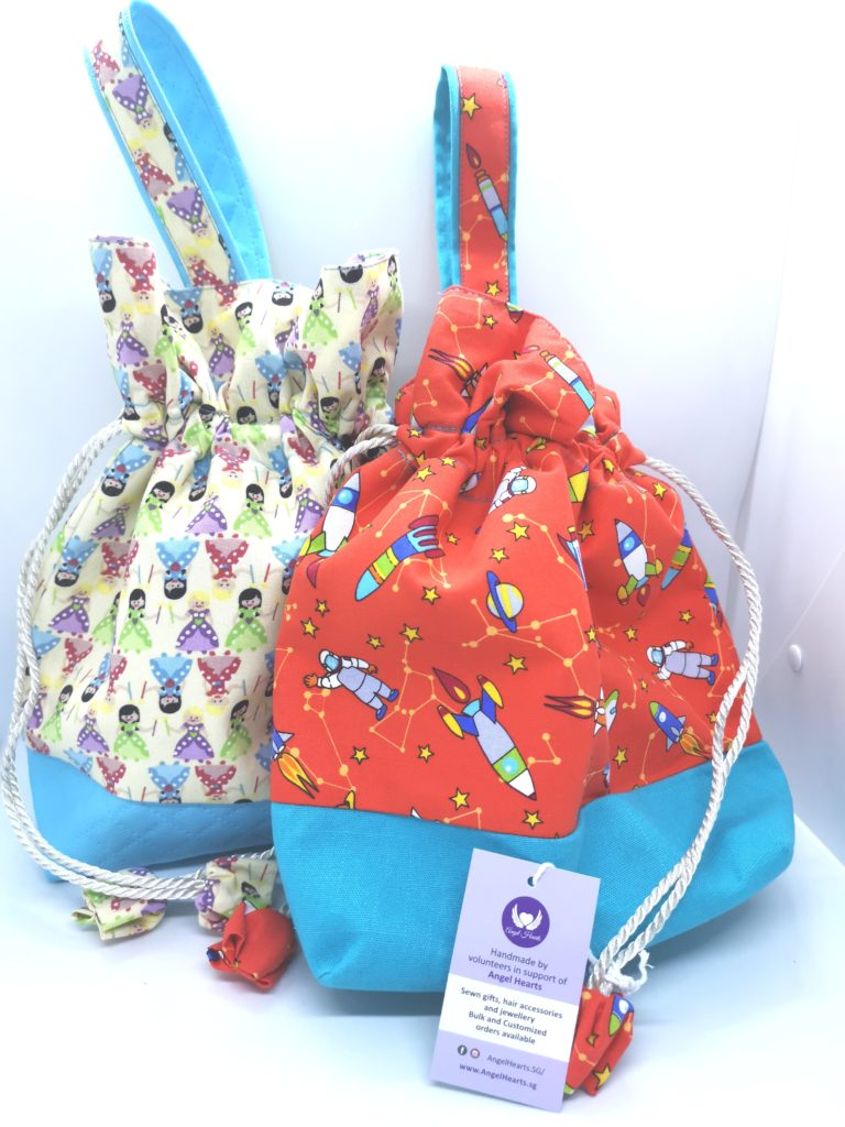 Drawstring Bag – Princess / Rocket (Seasonal Series)