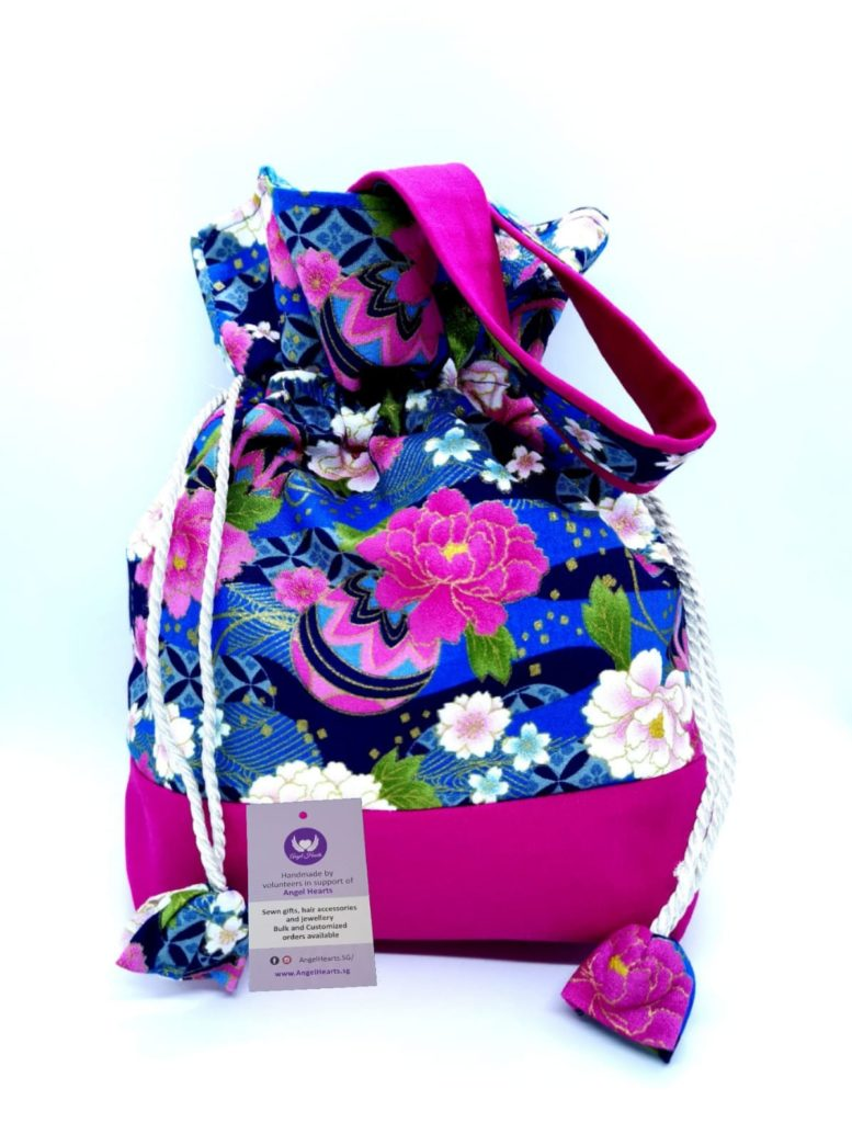 Drawstring Bag – Prosperity Floral (Seasonal Series)